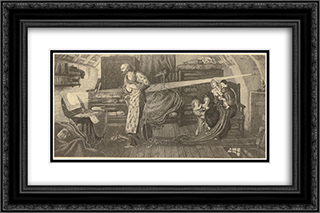 First observation of the transit of Venus by William Crabtree in 1639 24x16 Black or Gold Ornate Framed and Double Matted Art Print by Ford Madox Brown