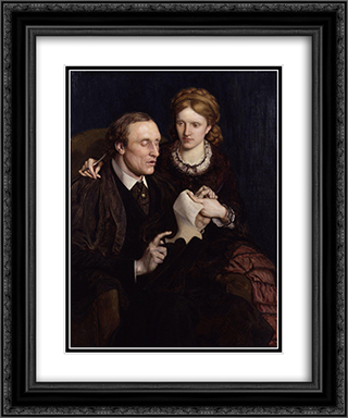 Henry Fawcett, Dame Millicent Garrett Fawcett 20x24 Black or Gold Ornate Framed and Double Matted Art Print by Ford Madox Brown