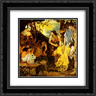 Jacob and Joseph's Coat 20x20 Black or Gold Ornate Framed and Double Matted Art Print by Ford Madox Brown