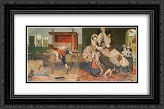 John Kay, Inventor of the Fly Shuttle 24x16 Black or Gold Ornate Framed and Double Matted Art Print by Ford Madox Brown