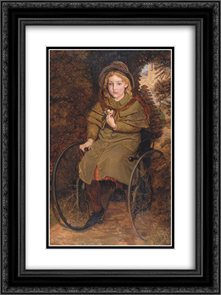 Madeline Scott 18x24 Black or Gold Ornate Framed and Double Matted Art Print by Ford Madox Brown