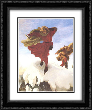 Manfred on the Jungfrau 20x24 Black or Gold Ornate Framed and Double Matted Art Print by Ford Madox Brown