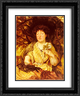 May Memories 20x24 Black or Gold Ornate Framed and Double Matted Art Print by Ford Madox Brown