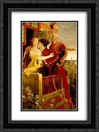 Romeo and Juliet 18x24 Black or Gold Ornate Framed and Double Matted Art Print by Ford Madox Brown