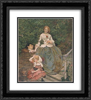 Stages of Cruelty 20x22 Black or Gold Ornate Framed and Double Matted Art Print by Ford Madox Brown