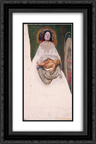 Take your Son, Sir 16x24 Black or Gold Ornate Framed and Double Matted Art Print by Ford Madox Brown