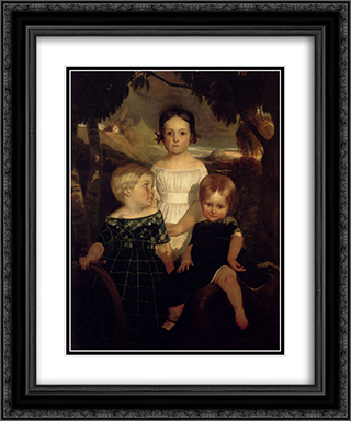 The Bromley Children 20x24 Black or Gold Ornate Framed and Double Matted Art Print by Ford Madox Brown