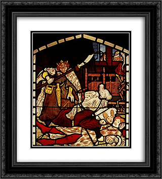 The Death of Sir Tristan, from 'The Story of Tristan and Isolde', William Morris & Co. 20x22 Black or Gold Ornate Framed and Double Matted Art Print by Ford Madox Brown