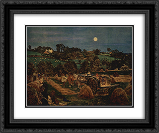 The hay harvest 24x20 Black or Gold Ornate Framed and Double Matted Art Print by Ford Madox Brown