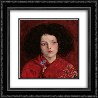 The Irish Girl 20x20 Black or Gold Ornate Framed and Double Matted Art Print by Ford Madox Brown