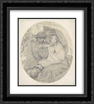 The Last of England 20x22 Black or Gold Ornate Framed and Double Matted Art Print by Ford Madox Brown