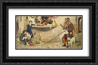The Proclamation Regarding Weights and Measures, 1556, illustration from 'Hutchinson's Story of the British Nation' 24x16 Black or Gold Ornate Framed and Double Matted Art Print by Ford Madox Brown
