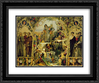 The Seeds and Fruit of English Poetry 24x20 Black or Gold Ornate Framed and Double Matted Art Print by Ford Madox Brown
