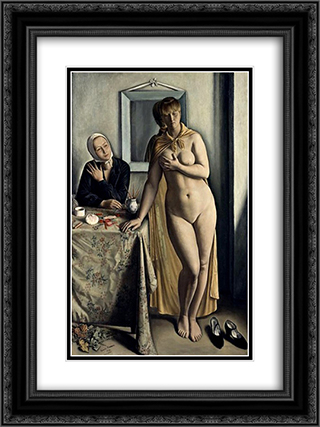 A la toilette 18x24 Black or Gold Ornate Framed and Double Matted Art Print by Francois Barraud