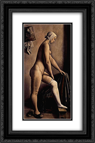 La luronne 16x24 Black or Gold Ornate Framed and Double Matted Art Print by Francois Barraud