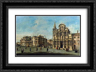 Church of Santa-Maria Zobenigo 24x18 Black or Gold Ornate Framed and Double Matted Art Print by Francesco Guardi