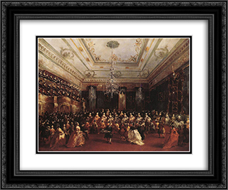 Ladies Concert at the Philharmonic Hall 24x20 Black or Gold Ornate Framed and Double Matted Art Print by Francesco Guardi