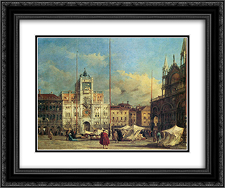 Piazza San Marco, Venice 24x20 Black or Gold Ornate Framed and Double Matted Art Print by Francesco Guardi