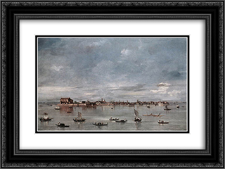 San Cristoforo, San Michele and Murano, Seen from the Fondamenta Nuove 24x18 Black or Gold Ornate Framed and Double Matted Art Print by Francesco Guardi