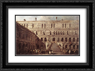 The Coronation of the Doge 24x18 Black or Gold Ornate Framed and Double Matted Art Print by Francesco Guardi