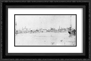 The Molo from the Bacino 24x16 Black or Gold Ornate Framed and Double Matted Art Print by Francesco Guardi