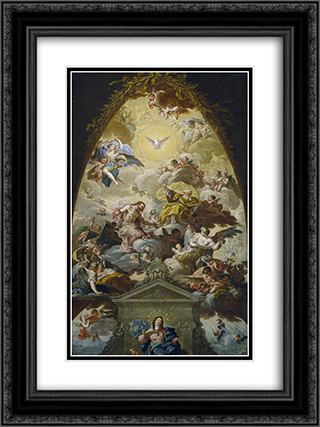 Asuncion de la Virgen 18x24 Black or Gold Ornate Framed and Double Matted Art Print by Francisco Bayeu y Subias