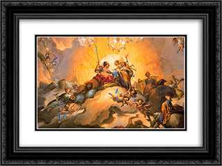 La feliz union de Espana y Parma impulsa las ciencias y las artes 24x18 Black or Gold Ornate Framed and Double Matted Art Print by Francisco Bayeu y Subias