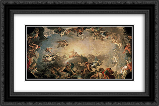 Olympus The Fall of the Giants 24x16 Black or Gold Ornate Framed and Double Matted Art Print by Francisco Bayeu y Subias