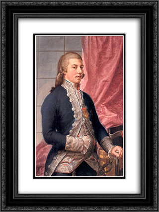 Portrait of Manuel Godoy 18x24 Black or Gold Ornate Framed and Double Matted Art Print by Francisco Bayeu y Subias