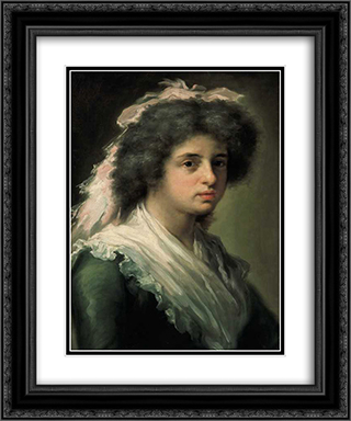 Retrato de Feliciana Bayeu, hija del pintor 20x24 Black or Gold Ornate Framed and Double Matted Art Print by Francisco Bayeu y Subias
