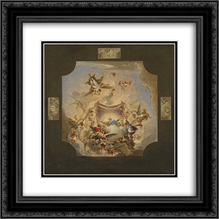 The Eternal Father 20x20 Black or Gold Ornate Framed and Double Matted Art Print by Francisco Bayeu y Subias