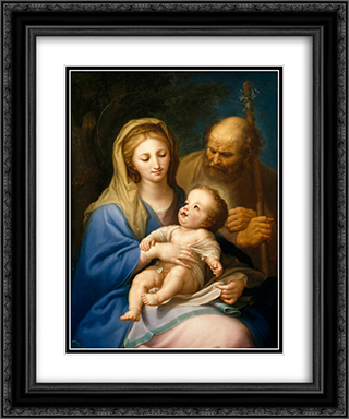 The Holy Family 20x24 Black or Gold Ornate Framed and Double Matted Art Print by Francisco Bayeu y Subias