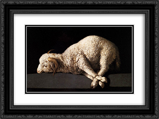 Agnus Dei 24x18 Black or Gold Ornate Framed and Double Matted Art Print by Francisco de Zurbaran