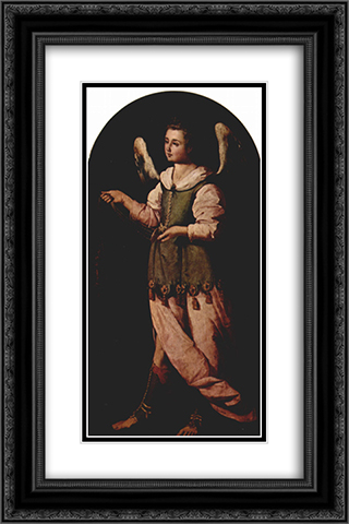 Angel with Incense 16x24 Black or Gold Ornate Framed and Double Matted Art Print by Francisco de Zurbaran