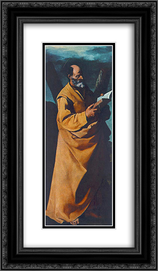 Apostle St. Andrew 14x24 Black or Gold Ornate Framed and Double Matted Art Print by Francisco de Zurbaran