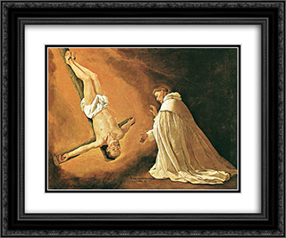 Appearance of St. Peter to St. Peter Nolasco 24x20 Black or Gold Ornate Framed and Double Matted Art Print by Francisco de Zurbaran