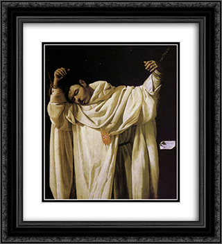 Beato Serapio 20x22 Black or Gold Ornate Framed and Double Matted Art Print by Francisco de Zurbaran