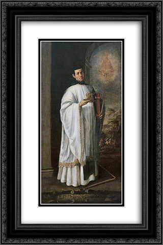 Brother Alonso de Ocana 16x24 Black or Gold Ornate Framed and Double Matted Art Print by Francisco de Zurbaran