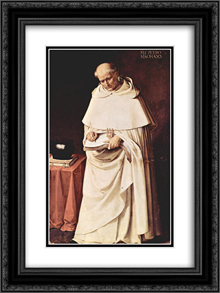 Brother Pedro Machado 18x24 Black or Gold Ornate Framed and Double Matted Art Print by Francisco de Zurbaran