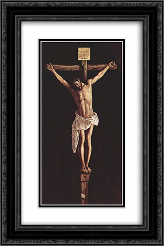 Christ on the Cross 16x24 Black or Gold Ornate Framed and Double Matted Art Print by Francisco de Zurbaran