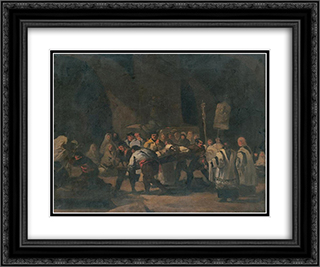 Funeral 24x20 Black or Gold Ornate Framed and Double Matted Art Print by Francisco de Zurbaran