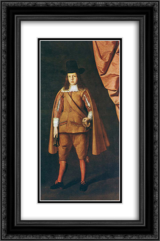 Portrait of a boy (The Duke of Medinaceli) 16x24 Black or Gold Ornate Framed and Double Matted Art Print by Francisco de Zurbaran
