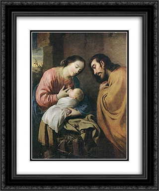 Rest on the Flight to Egypt 20x24 Black or Gold Ornate Framed and Double Matted Art Print by Francisco de Zurbaran