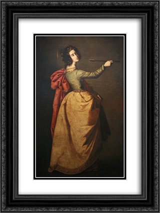 Saint Ursula 18x24 Black or Gold Ornate Framed and Double Matted Art Print by Francisco de Zurbaran