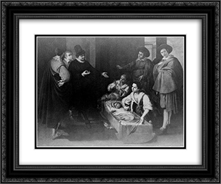 Scene From The Life Of Saint Pierre Theophile 24x20 Black or Gold Ornate Framed and Double Matted Art Print by Francisco de Zurbaran