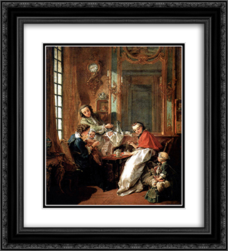 Breakfast 20x22 Black or Gold Ornate Framed and Double Matted Art Print by Francois Boucher