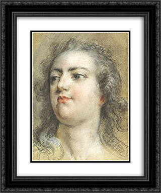 Head of King Louis XV 20x24 Black or Gold Ornate Framed and Double Matted Art Print by Francois Boucher