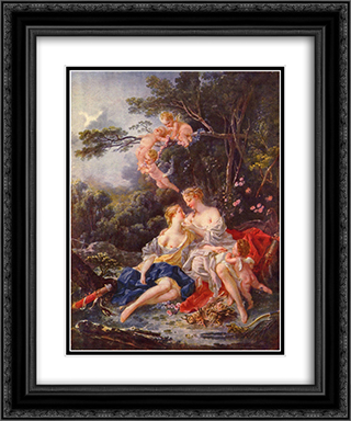 Jupiter and Callisto 20x24 Black or Gold Ornate Framed and Double Matted Art Print by Francois Boucher