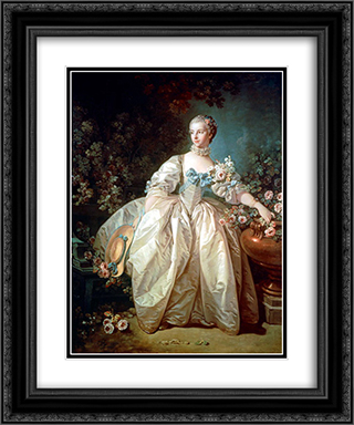 Madame Bergeret 20x24 Black or Gold Ornate Framed and Double Matted Art Print by Francois Boucher