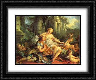 Rinaldo and Armida 24x20 Black or Gold Ornate Framed and Double Matted Art Print by Francois Boucher